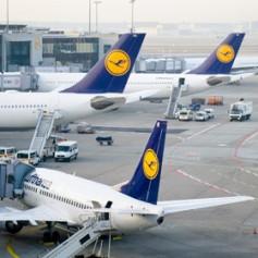 Пилоты Lufthansa продлили забастовку до конца пятницы
