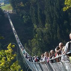 В Германии для туристов открыли 360-метровый подвесной канатный мост